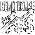 Health care costs increasing Royalty Free Stock Images