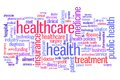 Health care healthcare and medicine word cloud illustration word collage concept Royalty Free Stock Photography