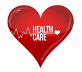 Health care heart concept illustration design over white Stock Image