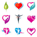 Health care icons Royalty Free Stock Photography