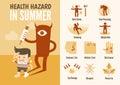 Health care infographics summer health hazard
