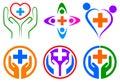 Health care logo Royalty Free Stock Photo