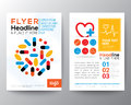 Health Care and Medical Poster Brochure Flyer design Layout Royalty Free Stock Photo