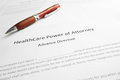 Health Care Power of Attorney Royalty Free Stock Photo