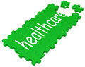Health Care Puzzle Shows Medical Care Royalty Free Stock Photography