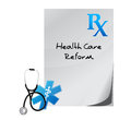 Health care reform prescription concept illustration design Stock Photo
