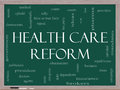 Health Care Reform Word Cloud Concept Royalty Free Stock Photo