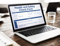 Health Check Form Claim History Record Concept Royalty Free Stock Photo