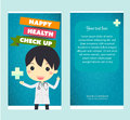 Health check up brochure vector Stock Image