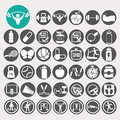 Health and fitness icons set. Royalty Free Stock Photo