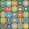 Health flat icons on green background stock vector Royalty Free Stock Photos