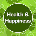 Health And Happiness Random Rings Circle Royalty Free Stock Photo