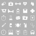 Health icons on gray background stock vector Royalty Free Stock Photo