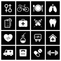 Health icons vector illustration eps Stock Photo