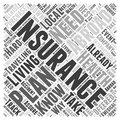 Health Insurance When Living Abroad word cloud concept word cloud concept vector background Royalty Free Stock Photo