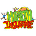 Health insurance message an image of a Royalty Free Stock Image