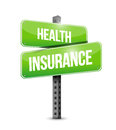 Health insurance road sign concept illustration design graphic Stock Images