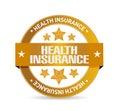 Health insurance seal sign concept illustration design graphic Stock Image