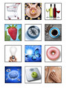 Health lifestyle medical montage a of and images on a white background Royalty Free Stock Photography