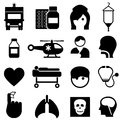 Health and medical icons icon set Royalty Free Stock Photos