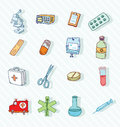 Health and medicine icons vector Royalty Free Stock Images