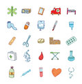Health and medicine icons vector Stock Image