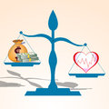 Health is more valuable than money vector illustration Stock Photography
