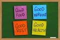 Health Motivational Words Concept