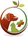 Health pet care logo Royalty Free Stock Photo