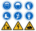 Health and Safety signs Royalty Free Stock Photo