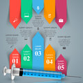 Health, syringe icon. 3D Medical infographic.