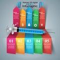 Health, Syringe icon. 3D Medical infographic.