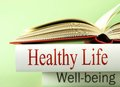 Health and well being books with information on wellness Royalty Free Stock Image