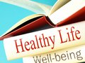 Health wellbeing books in Stock Image