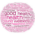 Health And Wellbeing Tag Cloud Royalty Free Stock Images