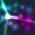Health word cloud illustration tag cloud concept collage Royalty Free Stock Images