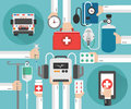 Healthcare Ambulance online concept design flat