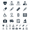 Healthcare icons simple clear and sharp easy to resize no transparency effect eps file Royalty Free Stock Photos