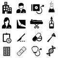 Healthcare and medical icons related icon set Royalty Free Stock Photography