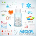 Healthcare and medical infographics illustration of Royalty Free Stock Photos