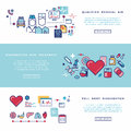 Healthcare, medical services vector banners set Royalty Free Stock Photo
