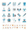 Healthcare, Medicine and hospital icons Stock Photography