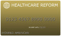 Healthcare Reform Platinum gold Credit Card Royalty Free Stock Photo