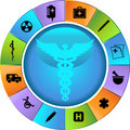 Healthcare Wheel Royalty Free Stock Photo