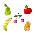 Healthful fruits there are colorful and tasty Royalty Free Stock Image