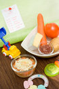 Healthy baby food Royalty Free Stock Image