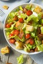 Healthy BLT Salad with Croutons Royalty Free Stock Photo