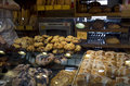 Healthy bread bakery freshly baked for sale in granville island public market Royalty Free Stock Image