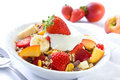 Healthy breakfast with cereals Royalty Free Stock Photos