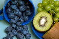 Healthy breakfast composition on kitchen table Stock Photography